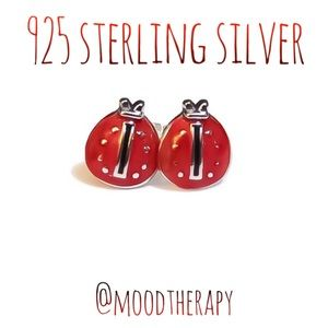 🐞 ladybug stud earrings 925 sterling silver